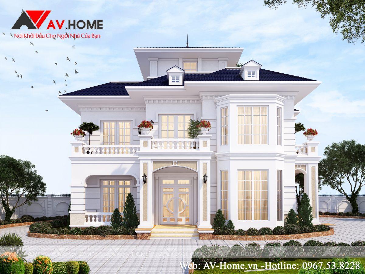 Mẫu biệt thự nhà vườn sang trọng tại Hưng Yên BT1020