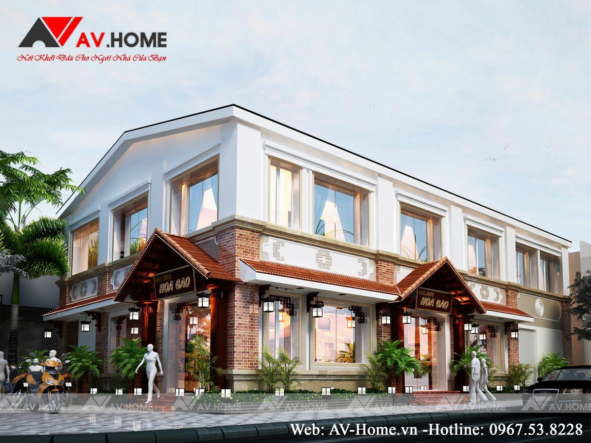 """Thiết kế Nhà hàng """"HOA GẠO"""" Hạ Long Quảng Ninh – NH1001"""