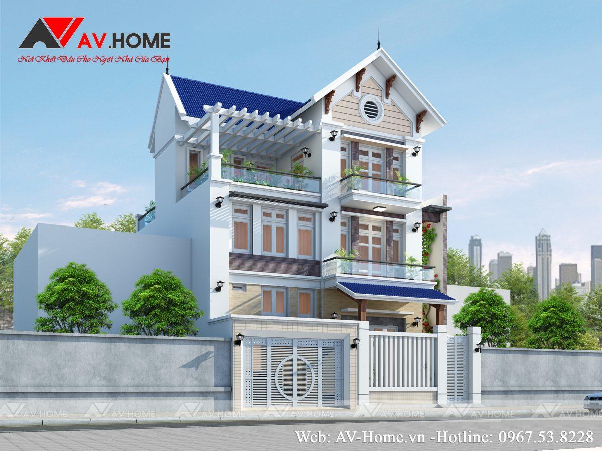 Thiết kế nhà phố 3 tầng hiện đại tại Hà Nội – BT1013