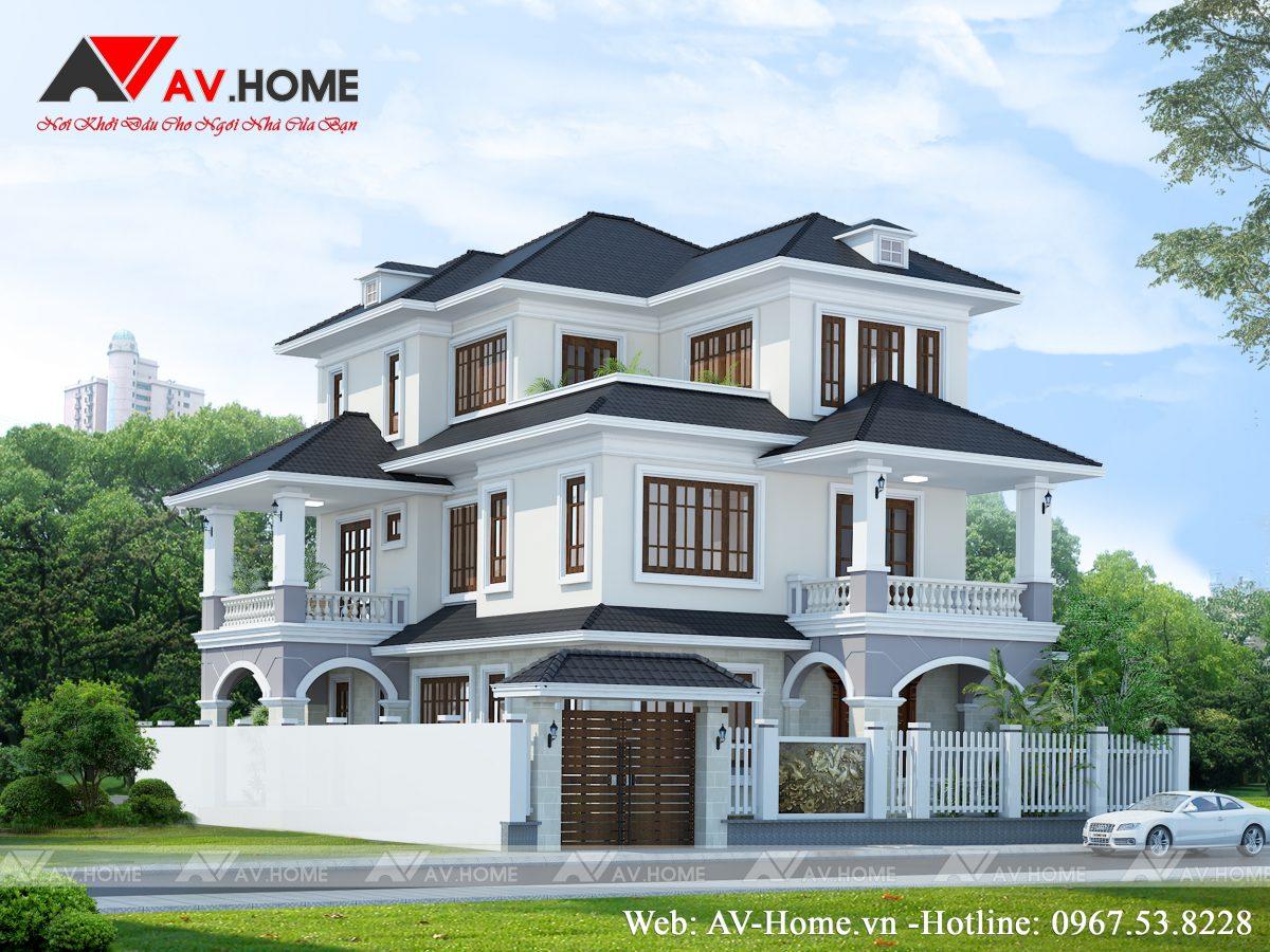 Thiết kế mẫu biệt thự 3 tầng tại Tây Sơn Hà Nội – BT0995