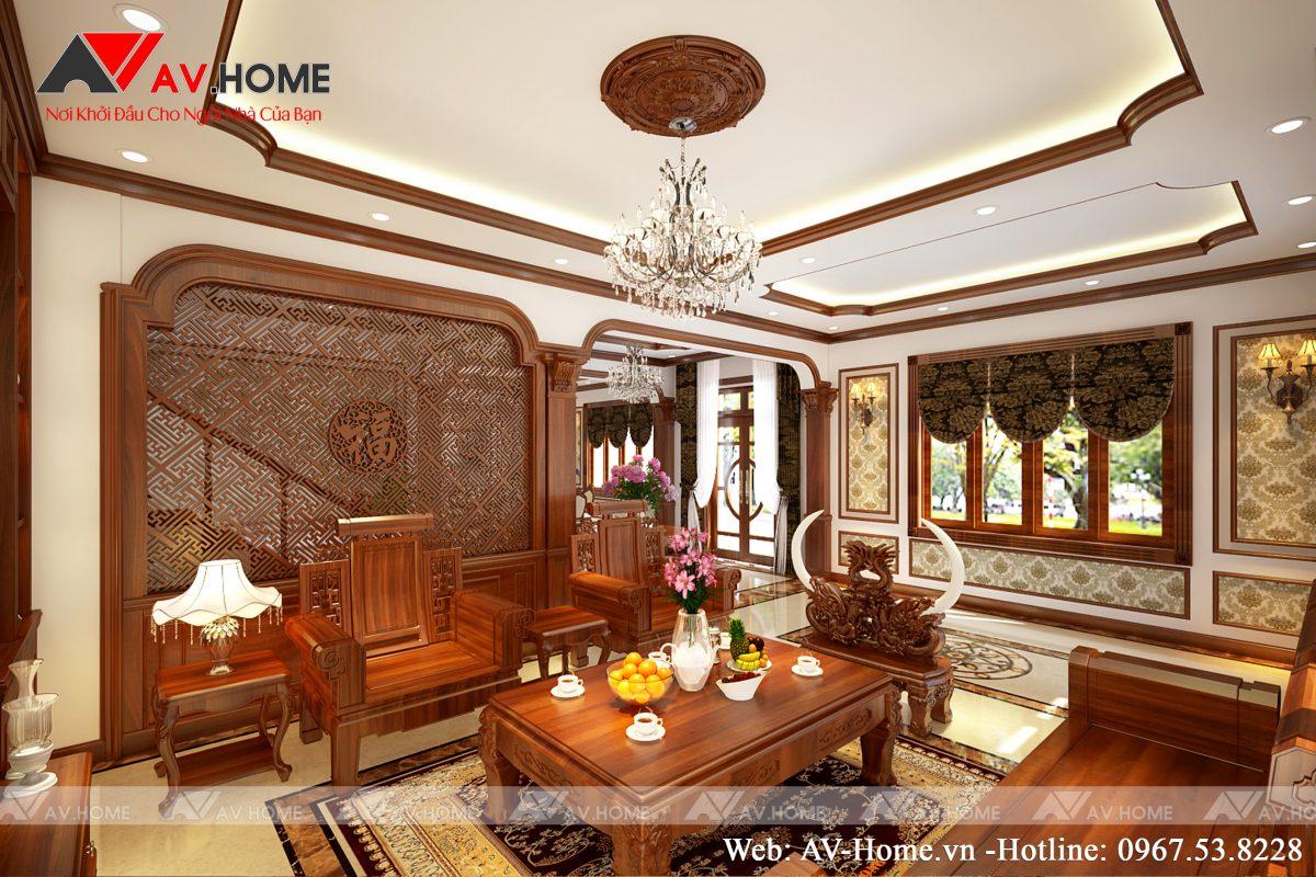 Thiết kế Nội thất Tân cổ điển Anh Quí, Móng Cái, Quảng Ninh – NT1040
