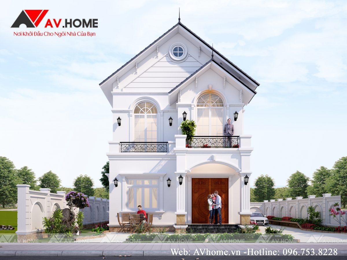 Thiết kế mẫu biệt thự 2 tầng 8x13m Tại Cẩm Khê – Phú Thọ – BT1080