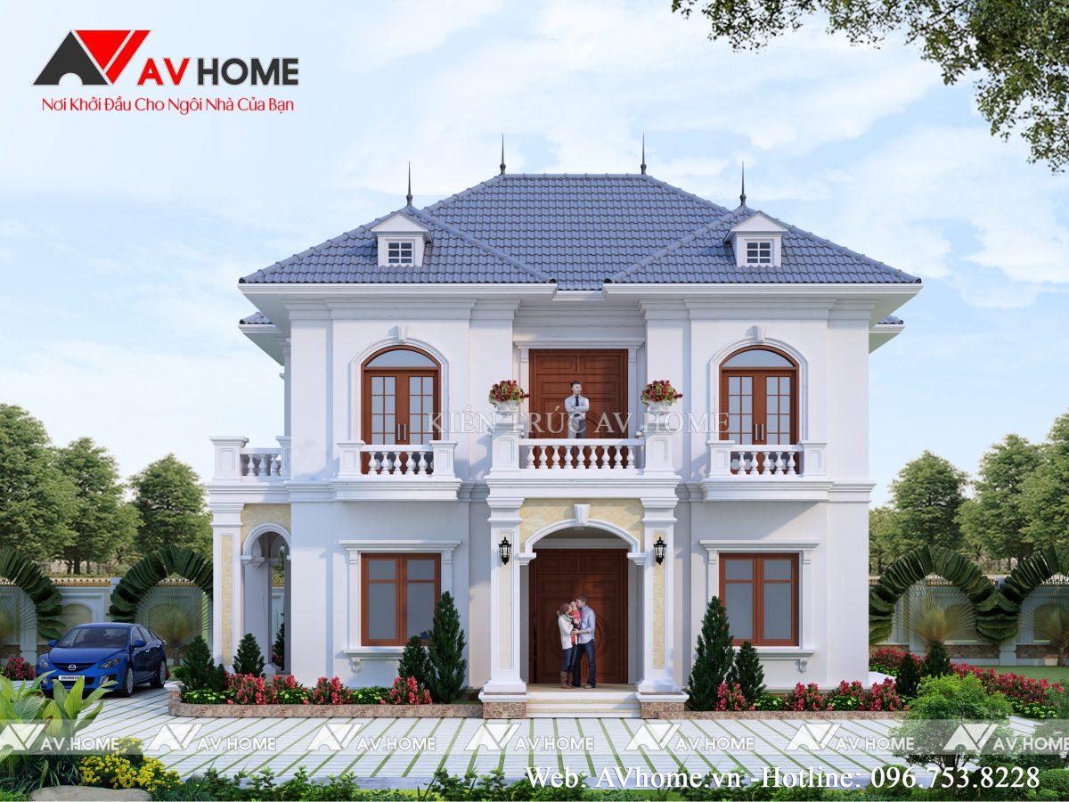 Thiết kế biệt thự 2 tầng 9.5×13.5m Tại Bình Xuyên – Vĩnh Phúc BT1095